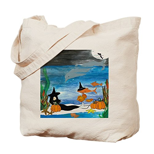 CafePress Halloween-Party-Tasche, Meerjungfrau, Hexe, canvas, khaki, S