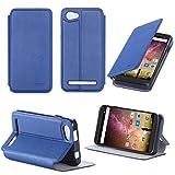 XEPTIO Leather Case Archos 40Power Blue Ultra Slim