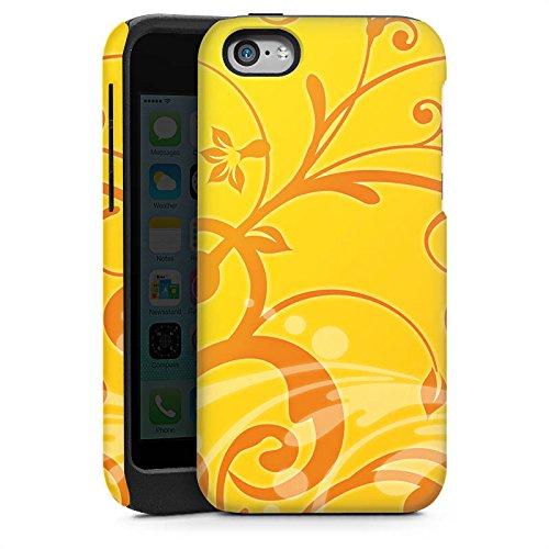 Apple iPhone 5s Housse Étui Protection Coque Fleurs Fleurs Soleil Cas Tough brillant