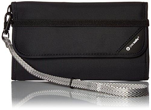 Akkordeon-card Wallet (Pacsafe RFIDsafe/V250/Diebstahlschutz RFID-blockierender Travel Wallet, Schwarz)