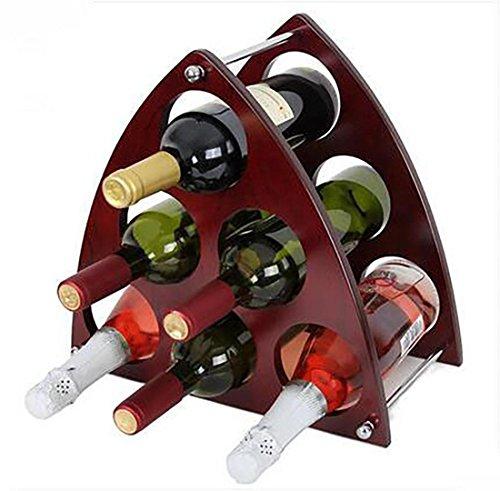 XIAPENGModerne einfache Parkett Lagerung Wein rot 6 Flaschen Dreieck Wein Rack 36 * 19 * 34cm Wohnzimmer Bar
