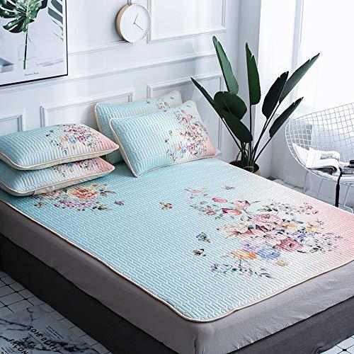 Matratze Ice Silk Mat Thailand Naturlatex DREI Stück Ice Silk Matratze kann gewaschen und maschinenwaschbar 1,5 m / 1,8 m Bett,150 * 200cm - Königin-könig-speicher