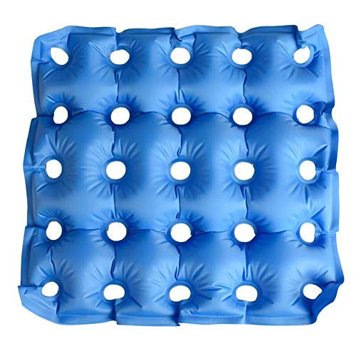 Luftaufblasbares Seat Kissen/Easy Inflation for Travel Pressure Point Pain Relief for Rollchair, Car, Office,Blue