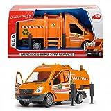 DICKIE Mercedes Benz City Service Müllabfuhr 35 cm Mülltonne Fahrzeug Spielzeug