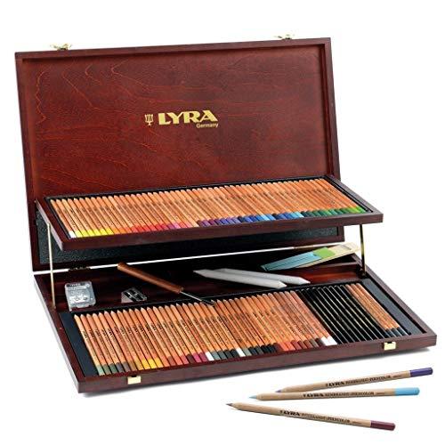 Imagen 1 de Lyra - Estuche de madera con 96 lápices de colores y accesorios