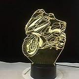 Leuchtendes Motorradmodell-Phantomlicht buntes Notennachtlichtblitzbeleuchtungs-leuchtendes...