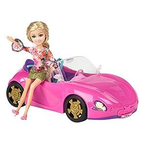 ColorBaby -  Coche con muñeca articulada Sparkle Girlz (44500)