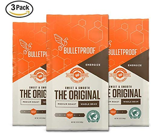 Bulletproof The Original Whole Bean Coffee (2-Packs), Premium Medium Roast Organic Coffee Beans (12 Ounces), Keto Diet Coffee