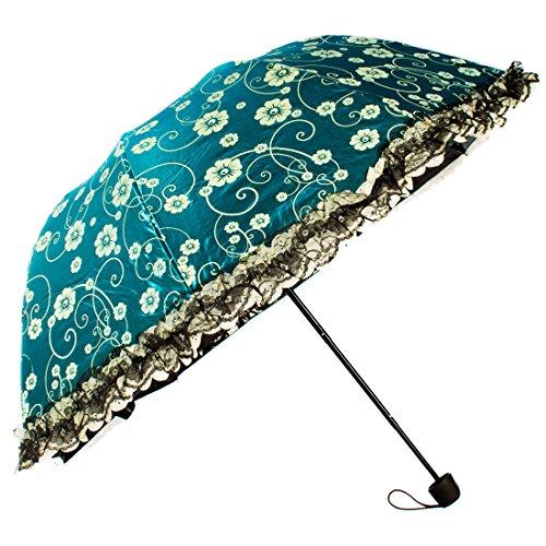 kilofly-floral-arcade-parapluie-pliant-parasol-en-dentelle-protection-solaire-vert-taille-unique