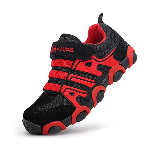 SITAILE Kinderschuhe Outdoor Sport Sneaker Wander Schuhe Turnschuhe für Kinder Jungen Mädchen,Rot,EU 29 (Boys Red Turnschuhe)