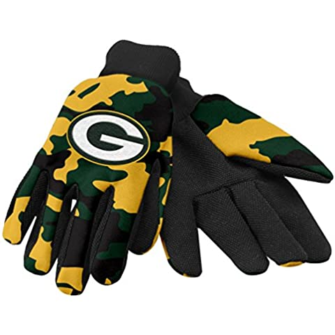 Green Bay Packers NFL Camouflage Team Work Gloves