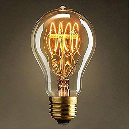 Tenflyer A19 Incandescente Bombillas Vintage Edison bombillas E27 antiguo luz clara de cristal 40W 110V / 220V de la lámpara decoración del hogar