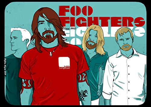Foo Fighters 14 Dave Grohl Pat SMEAR nate Mendel Taylor Hawkins Chris Shiflett Great Rock metal design cover Band Best foto stampa unica A3 poster
