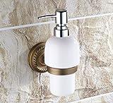 Qualitativ hochwertige kupfer,Dusche dispenser,Wandhalterung,Vintage,Hand sanitizer flasche Home Hotel Gel-duschkabine-A