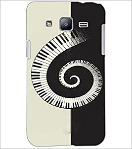 PrintDhaba Piano Pattern D-4466 Back Case Cover for SAMSUNG GALAXY J2 (Multi-Coloured)