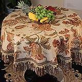 LSJT Europäische Tischdecke Stoff Paris Stil Runde Tischdecke Tischdecke Runde Kaffeetisch Tuch (größe : D240cm)