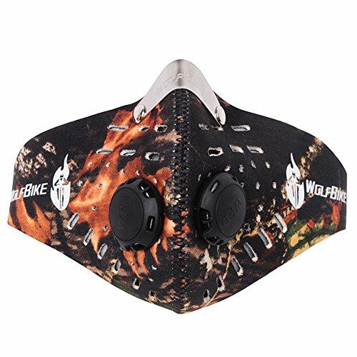 Carbón activado pm2,5a prueba de ciclismo máscaras máscara de bicicleta mascarilla sana cara tapas de conducción para hombres, Camuflaje