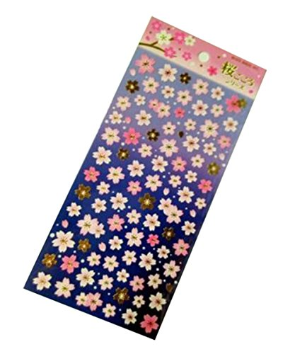 2 Sheets Diy Tagebuch-Aufkleber Japanische Kirschblüte Stickers