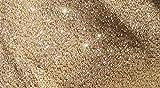 Sybille Zanoll - Dekoartikel Glitzerstoff in Verschiedenen Farben Meterware (Gold)