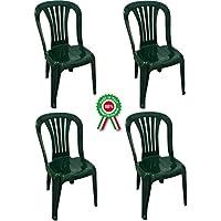 Sedie E Tavoli Da Giardino In Plastica.Amazon It Resina Sedie Per Tavolo Da Giardino Sedie Giardino E