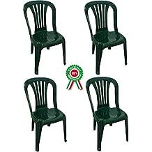 Sedie In Plastica Usate.Amazon It Sedie Giardino Plastica