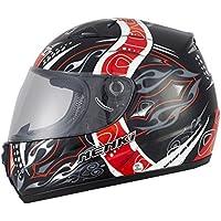 Nenki Helme nk-820 Motorradhelme, Integralhelme ECE zugelassen(Rote Blume, XXL 63-64CM)