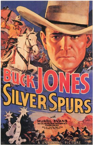 Silver Spurs poster Movie 27 x 40 pollici - 69 cm x 102 cm Buck Jones Muriel Evans George 'Gabby' Hayes j.p. Mcgowan