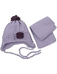 Baby Mädchen Winter Mütze mit Schal CZ035