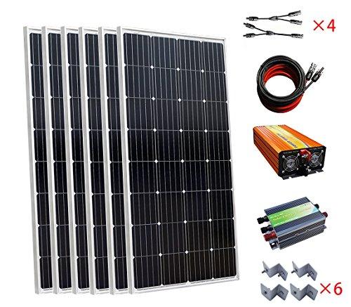 Especificaciones 150W Mono panel solarPotencia nominal: 150WTensión de circuito abierto: 20.3VMáxima potencia Voltaje: 16,6VCorriente de cortocircuito (ISC): 9.61unCorriente de funcionamiento (IOP): 9.04unDimensiones (L x W x H) mm: 1315* 665...