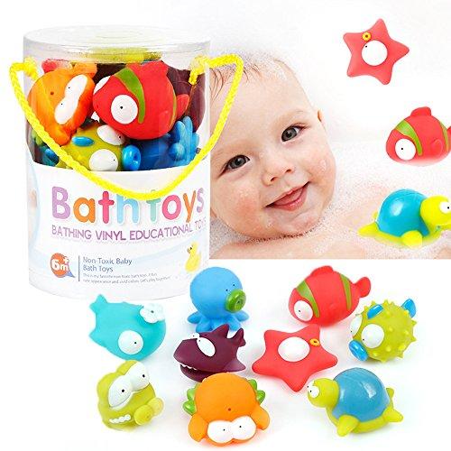 Inchant 9-Pack Océano Squirting juguete del baño para...