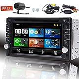 Eincar Autoradio Audio Doppel-DIN-6.2 Zoll kapazitiver Touch Screen Bluetooth Freisprech-Autoradio mit 3 UI Optional RDS-Unterst¨¹tzung FM / AM-1080P Video-drahtlosen Fernsteuerungs SWC USB / TF-Karte Wireless-R¨¹ckfahrkamera