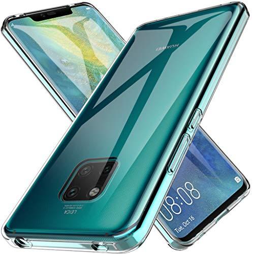 LK Hülle für Huawei Mate 20 Pro, Ultra Schlank Dünn TPU Gel Gummi Weiche Haut Silikon Schutzhülle Abdeckung Case Cover für Huawei Mate 20 Pro (Transparent)