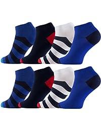 Lot de 8 paires de socquettes - multicolore - pour les hommes