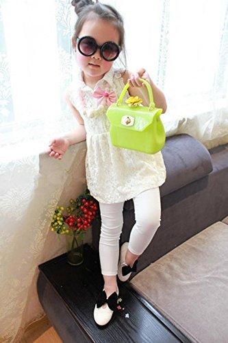 Gaorui Borsetta per bambina trasparente colorata bimba accessori borsa a mano rosso