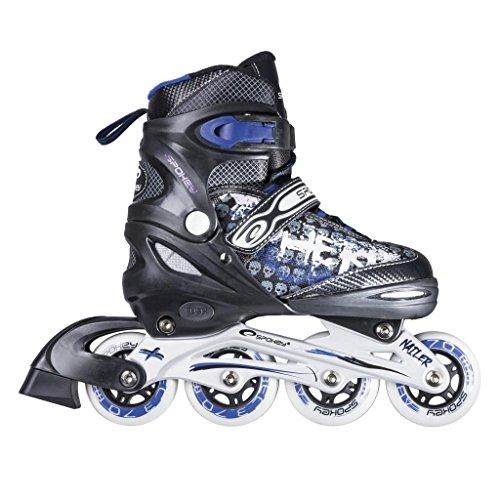SPOKEY® NAILER Inline Skates | Kinder | Damen | Herren | Inliner | 31-34 / 35-38 / 39-42 | Rollerskates | Größenverstellbar | Softboot