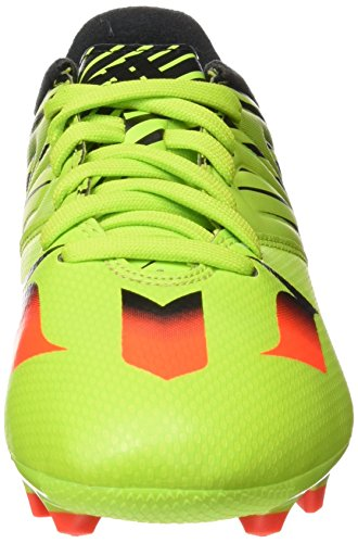 adidas Messi Terrain Souple/Synthétique Junior, Scarpe da Football Americano Unisex – Bambini Green / Red / Black