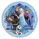 Decorazione per Torte in Pasta di Zucchero Elsa Anna Olaf Kristoff Sven Frozen Disney