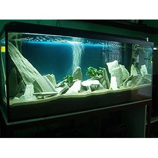 Aquarium Rock Fish Tank Decoration 100% Natural Ideal For Caves WHITE SLATE 10kg Set 14
