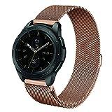 Fintie Armband für Galaxy Watch 42mm & Gear Sport & Gear S2 Classic - Edelstahl Milanese Magnet UhrBand Uhrenarmband Ersatzband, Roségold