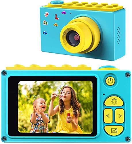 ShinePick Fotoapparat Kinder, Digitalkamera Kinder, 8MP / HD 1080P / 2 Inch Bildschirm / Foto & Video / Rahmen / Filter, Kinder Kamera mit Speicherkarte, Xmas Geburtstag Geschenke für Kinder (Blau)
