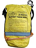 Riber Throw Rope / Safety Line for watersports - Highlyvisible buoyant rope - Reflective strips on the front - Approximately 8mm thick