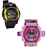 Shanti Enterprises Combo Barbie 24 Images Projector Watch And Sports Watch Multi Color Dial For Kids - B0757359SD