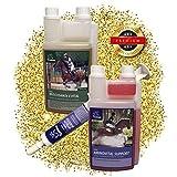 EMMAAminosäure & Vitamin E & Reiskeimöl für Pferde Sparset I Zusatzfutter mit Aminosäure & Gamma-Oryzanol I unterstützt den Muskelaufbau beim Pferd I Top Senioren Futter 3 teilig