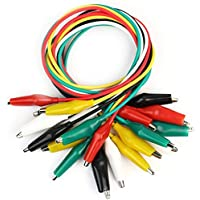Robotbanao N7-9JUZ-2DKU Double Ended Crocodile Clips Cable Alligator Clips Wire Testing, Multi