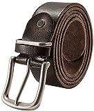 SOVARCATE Cintura da Uomo, Cintura in Pelle Pieno Fiore Cintura da Uomo Cintura Super Morbida per Uomo 1,5 '' Largo