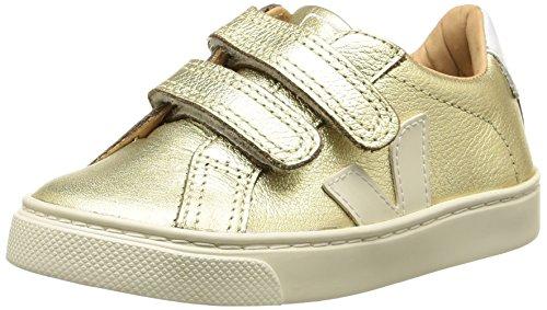 VEJAEsplar Velcro - Scarpe da Ginnastica Basse Unisex - Bambini , Oro (Or (Gold Pierre/Pierre)), 33
