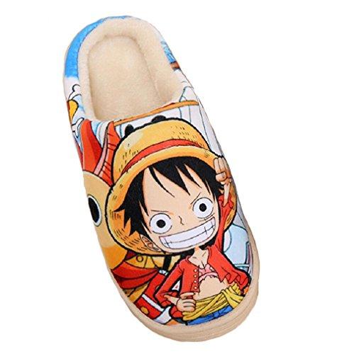 Bromeo-One-Piece-Anime-Super-Weich-Warm-Zuhause-Hausschuhe-Niedlich-Plsch-Schuhe