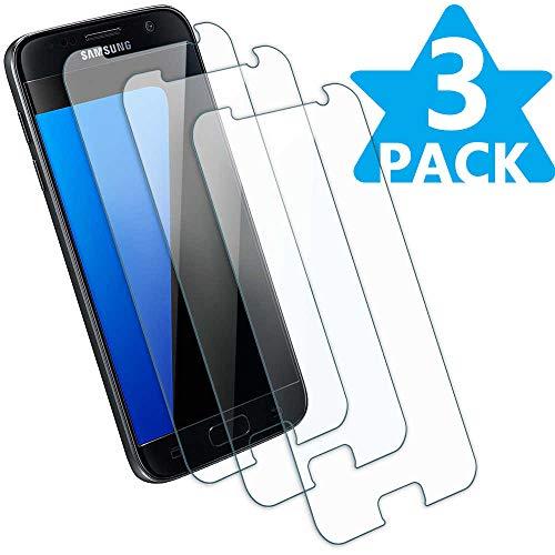 Displayschutzfolie aus gehärtetem Glas, für Samsung Galaxy S7, Härtegrad 9H, blasenfrei, Kratzfest, kompatibel mit Samsung Galaxy S7