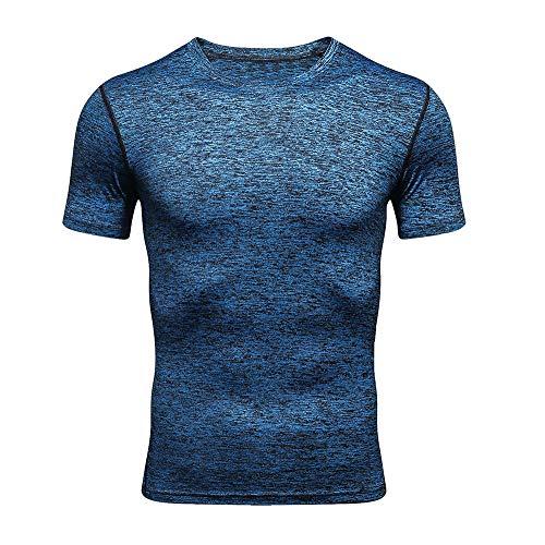 VECDY Herren T Shirts Mode Einfarbig Tops Kurzarm Pullover Freizeit Sport Oberteile Fitness Bluse S-2XL - Cargo Top Zip Tote