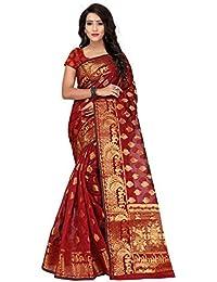 Silk Zone Women's Silk Saree With Blouse Piece